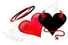 Angel Devil Tattoo, Angel And Devil, Heart Wallpaper, Love Wallpaper, Tattoo Drawings, My Drawings, Random Drawings, Broken Heart Drawings, Ange Demon