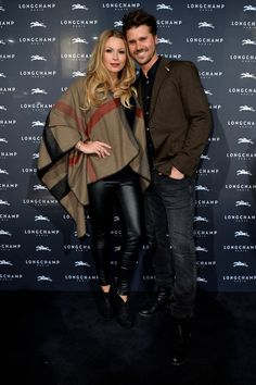 November 26, 2015 - Jana Kilka and Thore Schölermann at the Longchamp new flagship store opening in #Cologne.
