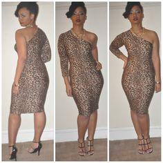 Leopard print one sleeve dress www.miystasiastyle13.com