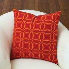 Global Views Petals Pillow Red Orange