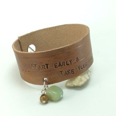 A personal favorite from my Etsy shop https://www.etsy.com/listing/269596342/leather-statement-bracelet