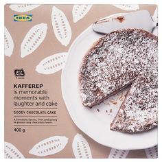 Pick up some pastries, desserts or cookies at your local Swedish Food Market at IKEA and enjoy Swedish-style sweets such as marzipan with your coffee. Gooey Chocolate Cake, Chocolate Recipes, Hot Chocolate, Tarta Chocolate, Chocolate Fundido, Blackberry Syrup, Swedish Recipes, Kakao, Savoury Cake