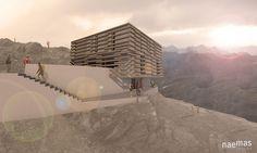 naemas Architekten, Wettbewerb Stettiner Hütte in Zusammenarbeit mit Kienzl Architekten