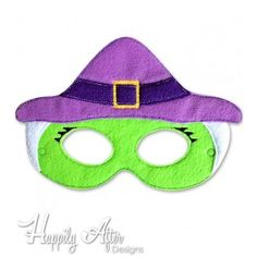 Witch Mask ITH Embroidery Design