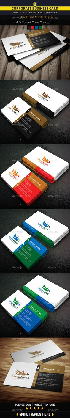 Corporate Business Card Template by DesignerEshad
