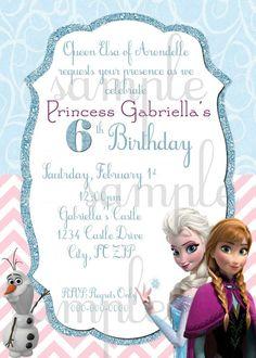 disney frozen birthday invitations | Disney's Frozen Birthday Invitation by EllieBlueDesigns on Etsy, $15 ...