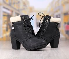 Ghete Dama Negre Cod: 293pd Combat Boots, Shoes, Fashion, Moda, Zapatos, Shoes Outlet, Fashion Styles, Shoe, Footwear