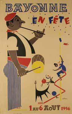1956 Bayonne : Pyrénées Atlantiques - Région : Aquitaine
