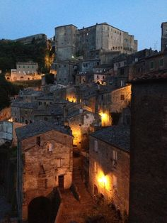 Sorano, Grosseto. The area around Sovana, Pitigliano and Sorano is well known for its Etruscan culture.