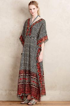 10 Caftans to Keep You Cool in the Summer Heat // Karina Caftan Anthropologie