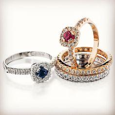 Tillander sormukset www.tilander.fi/ #tillander #alkuperäinen #häät2018 #vihkisormus #kihlasormus #kihlat #timanttiset #timanttisormus #rubiini #safiiri Sapphire, Rings, Jewelry, Jewlery, Jewerly, Ring, Schmuck, Jewelry Rings, Jewels