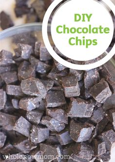 Learn how to make your own Homemade Chocolate Chips with this quick and easy cooking tutorial you can use for all your favorite chocolate chip cookies or brownies!