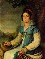 Portrait of a lady (Caroline Bonaparte Murat, Queen of Naples?) von Robert Jacques Francois Faust Lefevre
