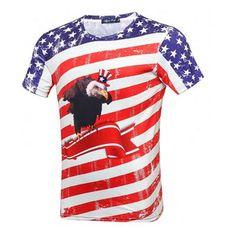 199 DKK. T-shirt med USA flag og den Amerikanske national fugl The Bald Eagle. T-shirten har en utrolig god pasform. #themountaintshirt #tshirt #starsandstripes