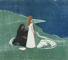 Two Women on the Beach by Edvard Munch