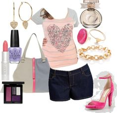 """Plus Size Summer Outfit"" by lavndrskyy on Polyvore. Minus the shoes!!! Hate those"