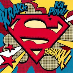 Superman Comic Book Art, pop art