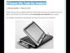 50 Reasons Why People Buy Computers Why People, Computers, Gadgets, Stuff To Buy, Gadget, Tech Gadgets