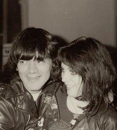 Dee Dee Ramone & Gaye Advert Photo by , Pete Kravitz London 1977 Joey Ramone, Ramones, Punk Rock, History Of Punk, Bob Richardson, Brian Duffy, El Rock And Roll, 70s Punk, Glam Metal
