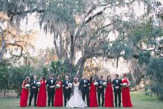 23 Day Of My Life, Bridesmaids, Contrast, Dream Wedding, Bright, Nice, Red, Dresses, Fashion