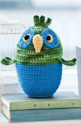 Easy Crocheted Owl - free crochet pattern