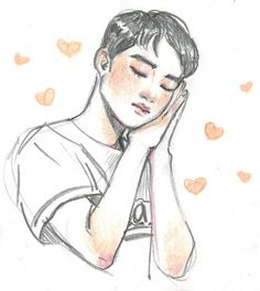 """Хочу его обнять"" Kaisoo, Exo Anime, Anime Art, Kpop Drawings, Art Drawings, Sehun, Fanart Bts, Exo Fan Art, Fanarts Anime"