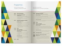 Konferenceprogram - Monokrom grafisk design. Tryksager, logodesign, magasindesign og webdesign.