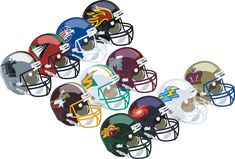 World League of American Football helmets - Concepts - Chris Creamer's Sports Logos Community - SportsLogos. Nfl Football Helmets, Arena Football, Football Icon, Sports Helmet, Football Stuff, Football Fans, World Football League, National Football League, Nfl Europe