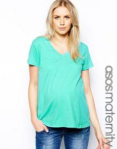 Immagine 1 di ASOS Maternity - T-shirt con scollo a V