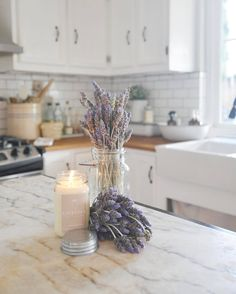 Vintage Farmhouse Home Decor - The soothings scent of lavender on a beautiful day... PC: Bianca from With Lavender and Grace
