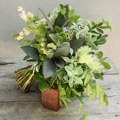 Floral Verde, Bridal Bouquet of Green foliages