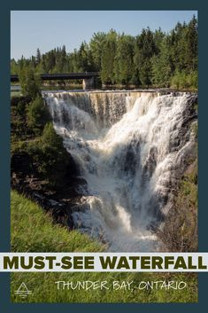 Don't miss this awesome waterfall near Thunder Bay, Ontario in Canada. Kakabeka Falls in Ontario - TRIPS TIPS and TEES Lake Superior, Amazing Adventures, Travel Information, Canada Travel, Niagara Falls, Thunder, Bald Eagle, Ontario, Trips