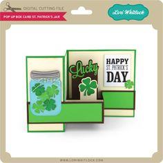 Pop Up Box Card St Patrick's Jar - Lori Whitlock's SVG Shop