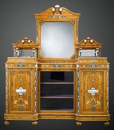 Antique Furniture - English Furniture - Victorian Furniture - Antique Cabinet - Satinwood Furniture ~ M.S. Rau Antiques