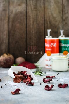 Beetroot Chips - baked in the oven and topped with sea salt for a healthy, addictive treat or snack.