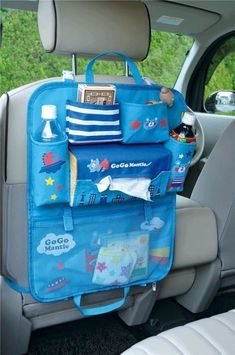 cute blue Super Bear car bag for boys by Decole Japan kawaii Decole multi compartment organiser bag for car seats for toys, bottles etc. Sewing For Kids, Baby Sewing, Gifts For Boys, Toys For Boys, Diy Vide Poche, Japan Bag, Car Seat Organizer, Cute Car Accessories, Kawaii Shop