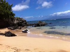 Kapalua Beach in Maui. One of our favorite places to snorkel.