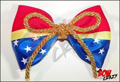 Large Wonder Woman Inspired Hair Bow by TotallyBowCrazy on Etsy, $7.00