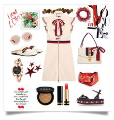 """""""One Brand Style: Gucci"""" by rhnzhrh ❤ liked on Polyvore featuring Gucci and Improvements"""