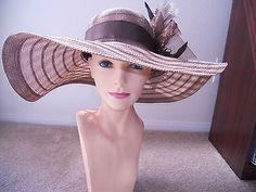 Women's Kentucky derby hat fashion hat dress hat summer hat wide brim hat #fashion hat #beautiful hat #women's fashion hat #elegant hat