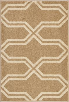 Beige 2' 2 x 3' Trellis Rug | Area Rugs | iRugs UK