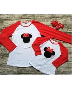MINNIE RED/WHITE JERSEY ADULTS ! ZX-300211