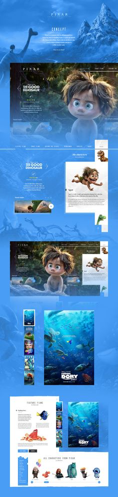 Pixar Website Concept – Design is art Website Layout, Web Layout, Layout Design, Webdesign Inspiration, Website Design Inspiration, Pixar, Template Web, Ui Web, Apps