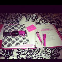 Pink school supplies = love