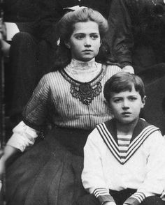 Grand Duchess Maria Nikolaevna and Tsarevich Alexei