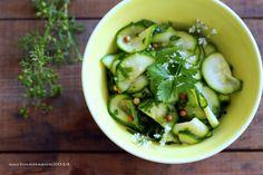 *recipe and photo by Sari Mattsson*  Cilantro zucchinis
