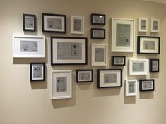 Ikea ribba frames layout black and white