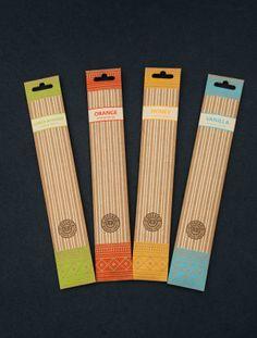 Cottage Incense Packaging : Base Range on Behance
