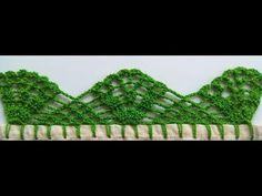 PUNTILLA NUM - 60 - YouTube Crochet Borders, Crochet For Beginners, Baby Blanket Crochet, Crochet Designs, Handmade, Pico, Behance, Satin Ribbon Flowers, Crochet Roses