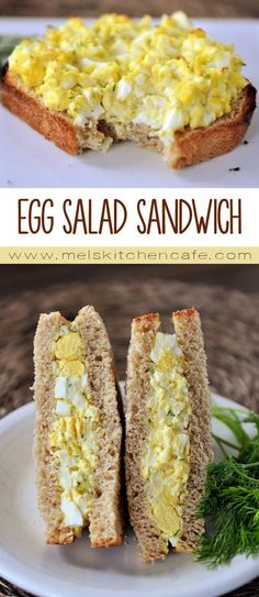 Egg salad sandwiches are the perfect way to use up all of those extra hard-boiled Easter eggs. This egg salad sandwich is lightened up and totally fabulous.